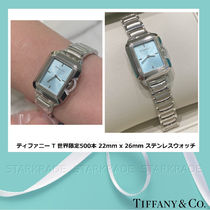Tiffany & Co Tiffany T Quartz Watches Jewelry Watches Stainless Office Style