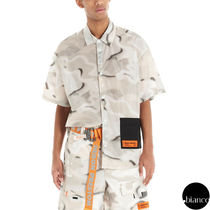 Heron Preston Camouflage Nylon Street Style Short Sleeves Logo Military