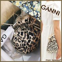 Ganni Leopard Patterns Casual Style Purses Elegant Style