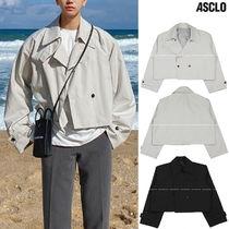 ASCLO Street Style Collaboration Plain Fleece Jackets Jackets