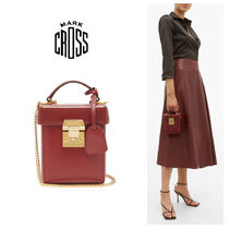 MARK CROSS Casual Style Leather Elegant Style Shoulder Bags