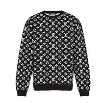 Louis Vuitton 2020 SS FULL MONOGRAM JACQUARD CREWNECK black long slleve