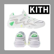 KITH NYC Suede Blended Fabrics Leather Logo Sneakers
