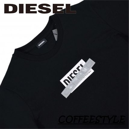 DIESEL Logo Crew Neck Unisex Short Sleeves Crew Neck T-Shirts