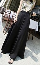 Casual Style Chiffon Nylon Plain Long Culottes