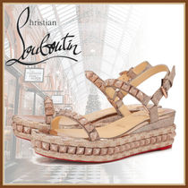 Christian Louboutin Casual Style Studded Leather Party Style Elegant Style