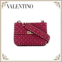 VALENTINO 2WAY Leather Crossbody Logo Shoulder Bags