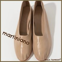 MARTINIANO Round Toe Casual Style Plain Leather Handmade Slip-On Shoes