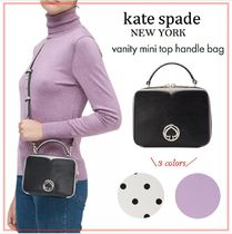 kate spade new york Dots Casual Style Vanity Bags 2WAY Plain Leather Party Style