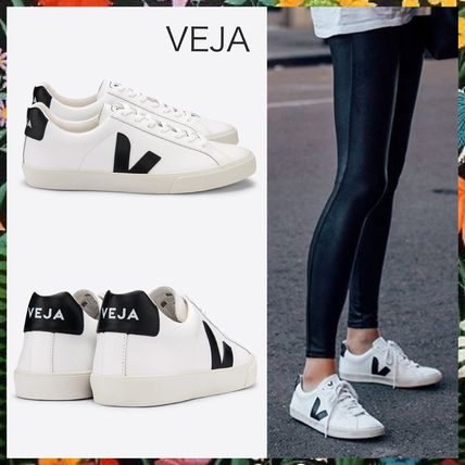 Rubber Sole Casual Style Unisex Leather Low-Top Sneakers