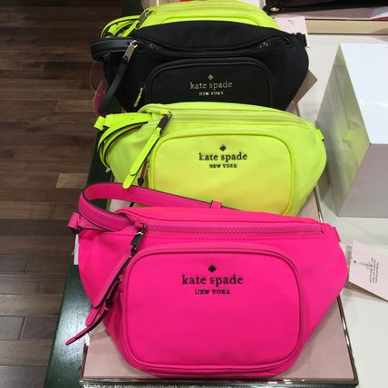 kate spade new york Casual Style Nylon 3WAY Plain Crossbody Hip Packs