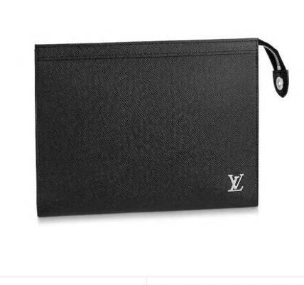 Louis Vuitton TAIGA Unisex Plain Leather Logo Clutches
