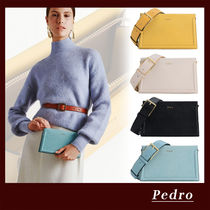 Pedro 3WAY Chain Plain Party Style Office Style Shoulder Bags