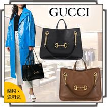 GUCCI Casual Style Blended Fabrics A4 2WAY Bi-color Chain Plain
