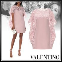 VALENTINO Short Party Style Lace Bridal Icy Color Dresses