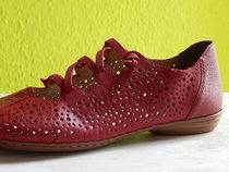 rieker Square Toe Casual Style Leather Flats