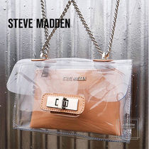 Steve Madden Casual Style Blended Fabrics Chain Plain Party Style