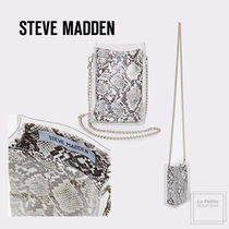 Steve Madden Blended Fabrics 2WAY Chain Party Style Crystal Clear Bags