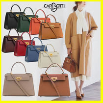 CARBOTTI 2WAY Plain Leather Bags