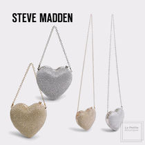 Steve Madden Heart Blended Fabrics 2WAY Chain Plain Party Style
