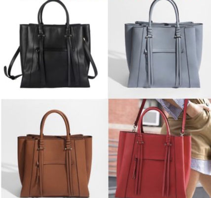 Tassel A4 2WAY Leather Office Style Totes