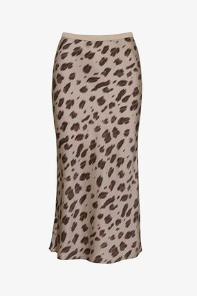 Leopard Patterns Casual Style Silk Office Style