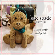 kate spade new york Blended Fabrics Plain Other Animal Patterns Leather Logo
