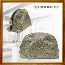 BORBONESE Casual Style Party Style Office Style Elegant Style Clutches