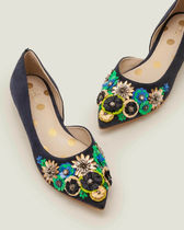 Boden Flower Patterns Dots Casual Style Suede Plain Leather