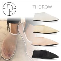 The Row Casual Style Plain Leather Sheer Slip-On Shoes