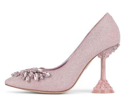 Party Style Elegant Style Glitter Pointed Toe Pumps & Mules
