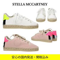 Stella McCartney Stripes Casual Style Blended Fabrics Logo Neon Color
