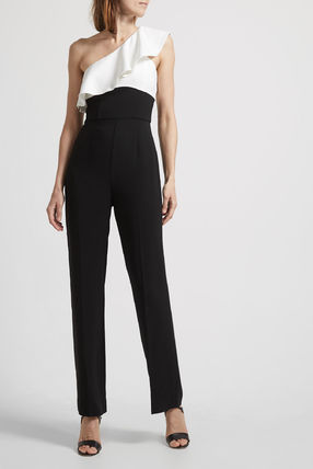 Dungarees Casual Style Tight Plain Long Party Style