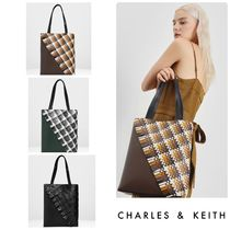 Charles&Keith Casual Style Faux Fur Bag in Bag A4 Office Style