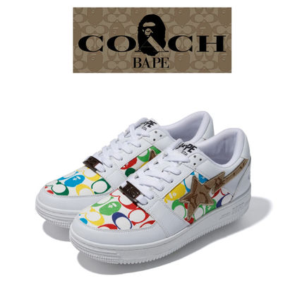 Unisex Street Style Collaboration Logo Sneakers