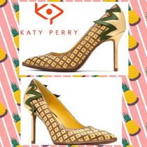 Katy Perry Tropical Patterns Blended Fabrics Pin Heels Party Style