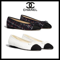 CHANEL ICON Tweed Ballet Shoes