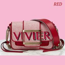 Roger Vivier Monogram Casual Style Blended Fabrics 2WAY Chain Party Style