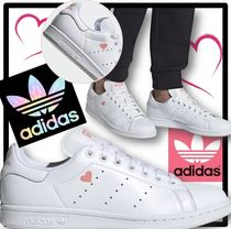 adidas STAN SMITH Heart Casual Style Unisex Street Style Low-Top Sneakers