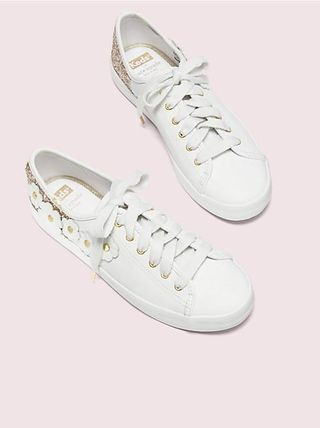 kate spade new york Low-Top Plain Leather Low-Top Sneakers 13