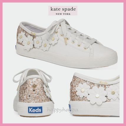 kate spade new york Low-Top Plain Leather Low-Top Sneakers 7