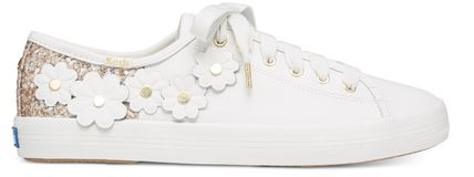 kate spade new york Low-Top Plain Leather Low-Top Sneakers 8