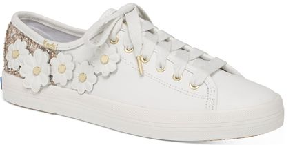 kate spade new york Low-Top Plain Leather Low-Top Sneakers 10