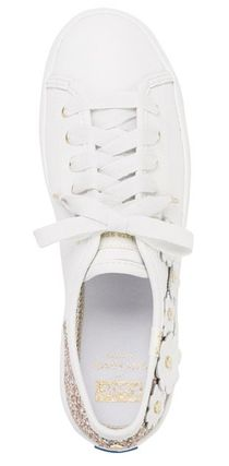 kate spade new york Low-Top Plain Leather Low-Top Sneakers 11
