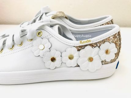 kate spade new york Low-Top Plain Leather Low-Top Sneakers 4