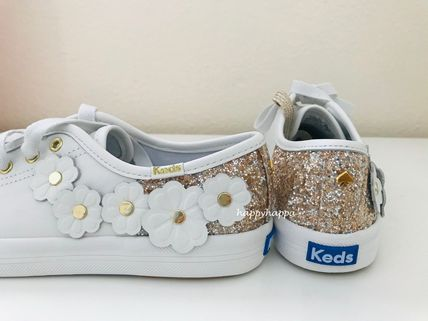 kate spade new york Low-Top Plain Leather Low-Top Sneakers 5