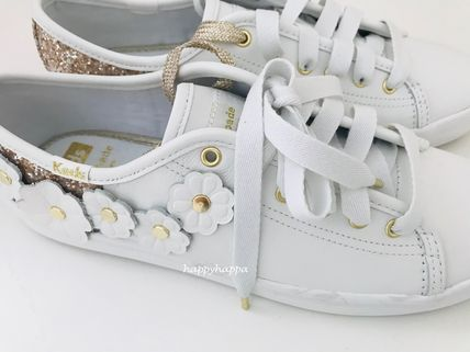 kate spade new york Low-Top Plain Leather Low-Top Sneakers 6