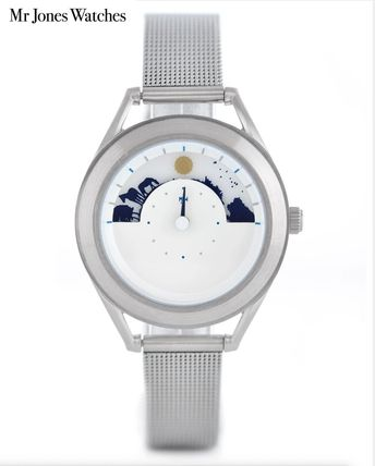 Casual Style Unisex Party Style Mechanical Watch Silver