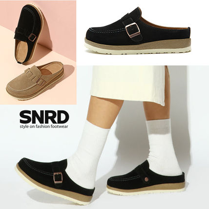 Wedge Round Toe Rubber Sole Casual Style Suede Faux Fur