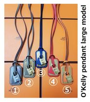 HERMES Kelly Unisex Leather Metal Necklaces & Chokers